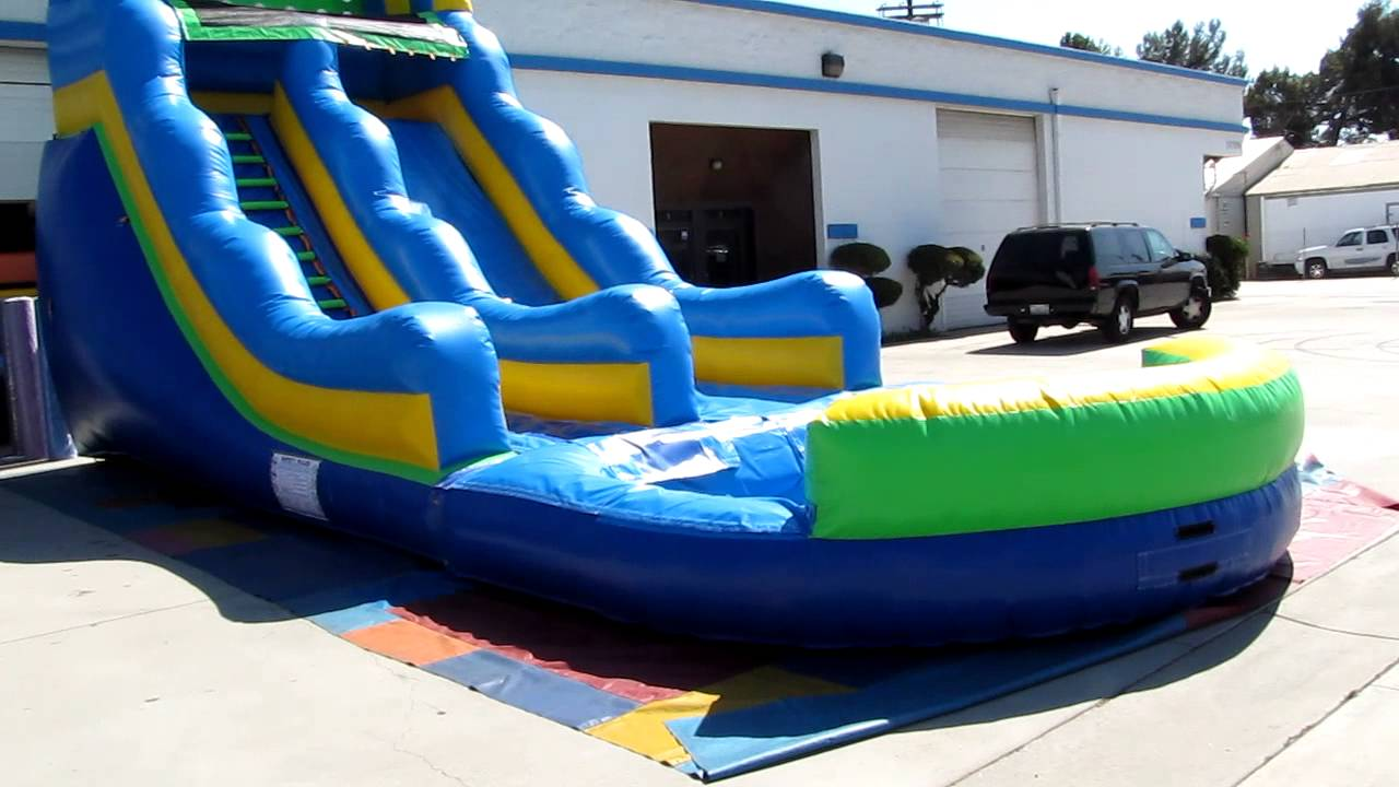 Inflatable 20 Ft Water Slide For Sale By Unique Jumpers