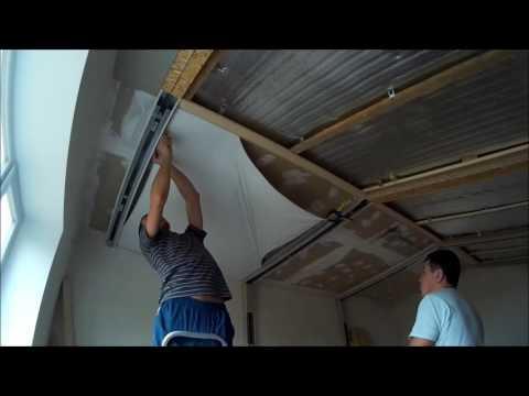 установка натяжных потолков на гипсокартон