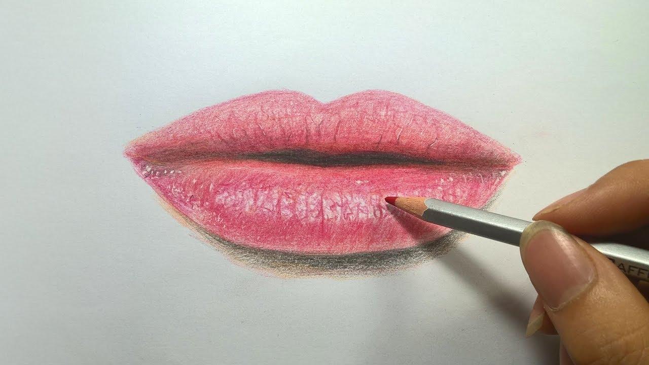 #Drawing | How to draw lips like real | hướng dẫn vẽ đôi môi giống như thật | #view