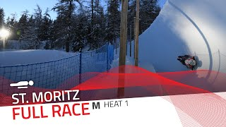 St. Moritz | BMW IBSF World Cup 2020/2021 - Men's Skeleton Heat 1 | IBSF Official