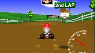 MK64 Nario Drivinf Fast Around The Cow's Place
