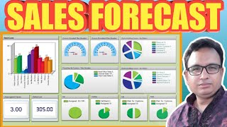 Excel Bangla Tutorial Tricks  51 : How to calculate sales forecast in MS Excel for Advanced Level