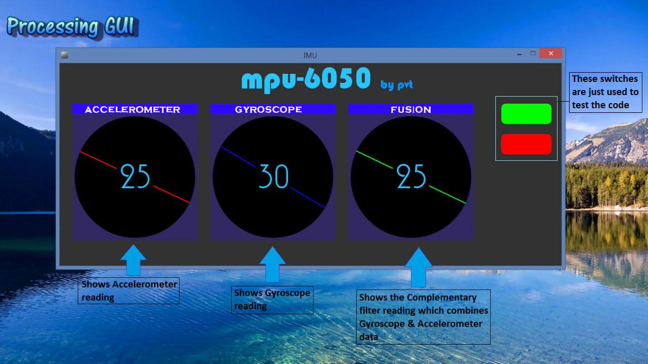 Testing Mpu 6050 Using Processing  Pravat Kumar 01:23 HD