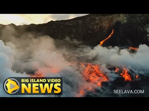Delta Collapse Produces Impressive Lava Breakout (June 25, 2017)