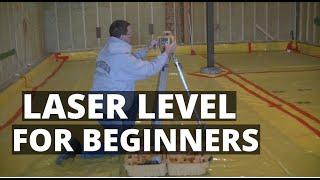 How To Use A Laser Level (Self-Leveling Laser Basics)