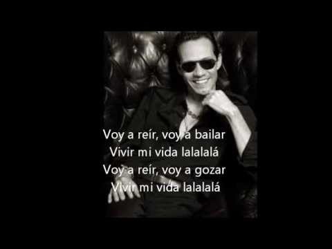vivir mi vida - marc anthony. letra - YouTube