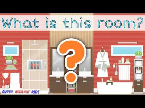 ♫ The rooms in a house song for kids (with spelling).♩ ♪