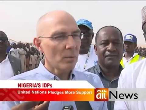 Volker Turk visits Bakasi IDPs Camp Maiduguri