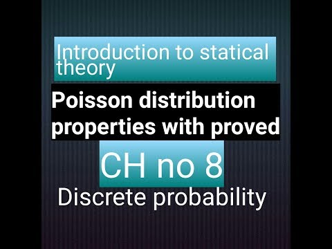 Poisson distribution proved with properties ! Discrete probability! CH # 8 of bsc statistics