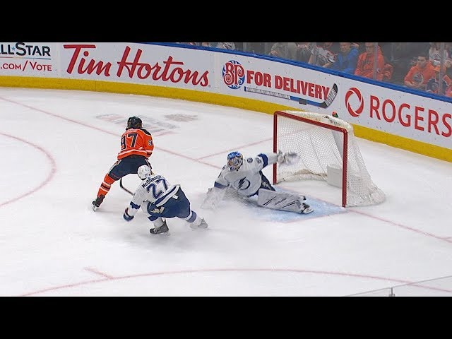 Andrei Vasilevskiy's save-of-the-year candidate on Connor McDavid