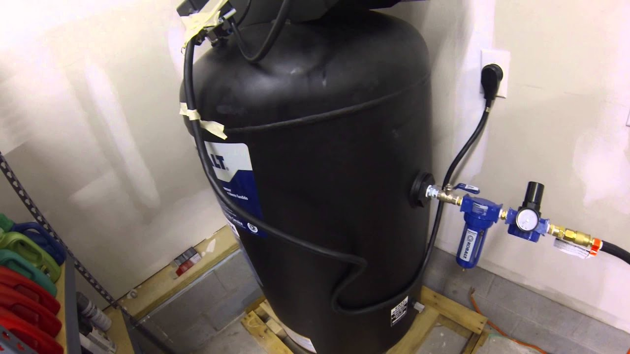 Compressed Air Car >> My air compressor setup for spraying foam. - YouTube