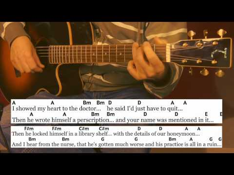21.1 One Of Us Cannot Be Wrong • Leonard Cohen • Cover, Chords, Lyrics, Tutorial