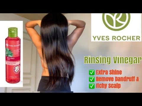 Yves Rocher Hair Rinsing Vinegar  Brillance Shine ( Raspberry)  3 ways on how to use it!!!
