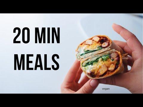 20 Minute Meal Ideas (vegan)