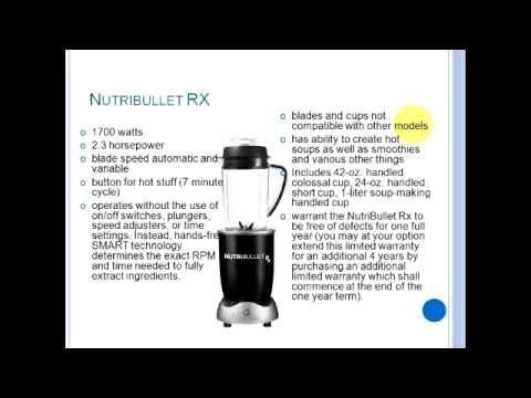 Whats the Difference??? (Nutribullet RX, Nutribullet Pro 900 Series, Nutribullet 600)