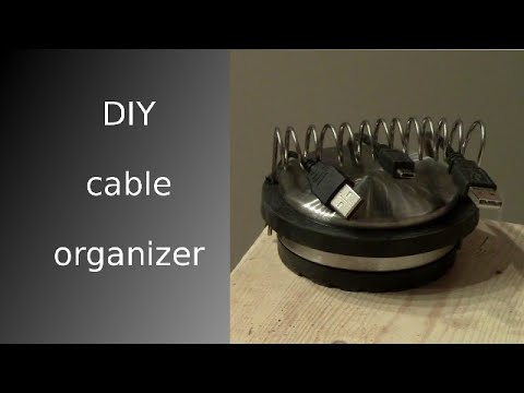 Diy cable organizer hd youtube Diy cable organizer