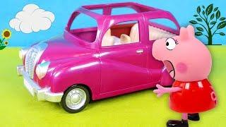 PEPPA PIG 🚘 Peppa la cerdita compra un coche rosa