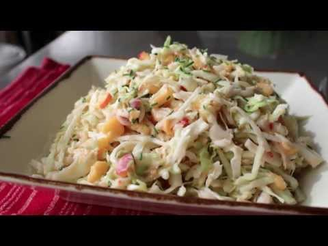 Spicy Peach Coleslaw Recipe - Summer Peach and Cabbage Salad