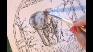 Elephant Mandala. Totem Animal Mandala