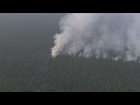 Crews Battling Massive Forest Fire In New Jersey