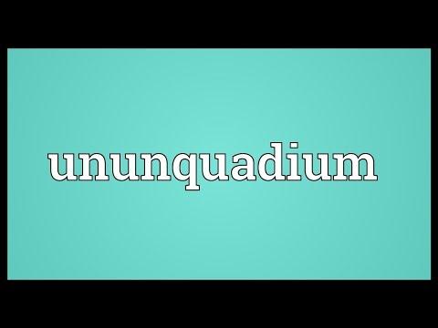 Ununquadium Meaning