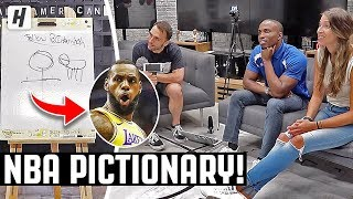 NBA PICTIONARY GAME | Drawing LeBron James & Hoodie Melo!