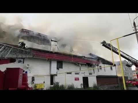 Пожар в торговом центре города Щекино