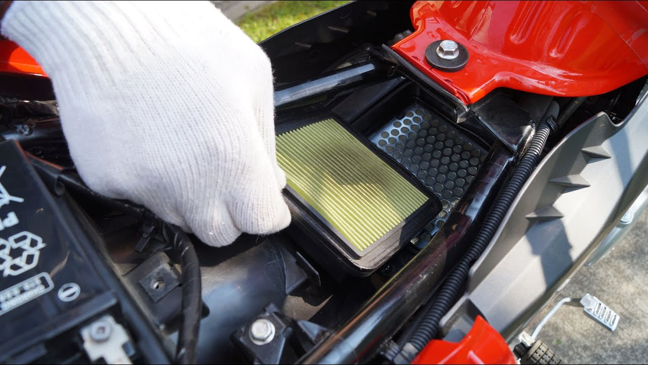 Honda Cbf 125 Air Filter Replacement Youtube