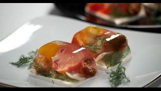 Заливное из помидоров   7 нот вегетарианской кухни