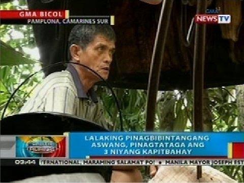Lalaking pinagbibintangang aswang, pinagtataga ang 3 niyang kapitbahay sa Camarines Sur thumbnail
