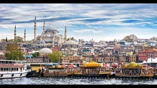 Beautiful View of City istanbul, Turkey  2018 from turkish Airlines