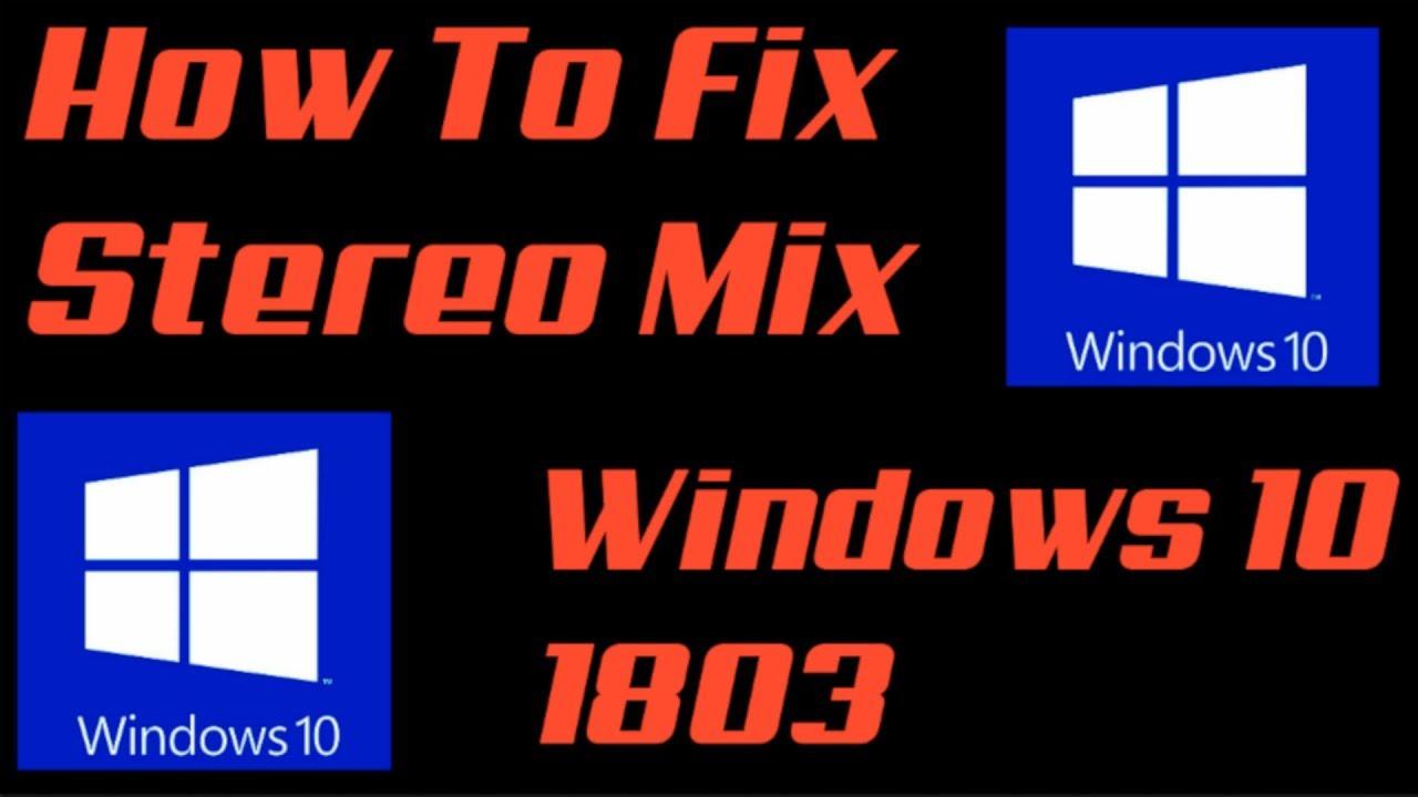 realtek stereo mix not working windows 10