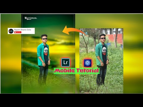 mobile photoshop tutorial | lightroom app color and smooth | background cut ps touch | Nayem Shanto thumbnail