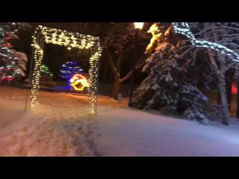Hartford Wisconsin River Walk Holiday Lights
