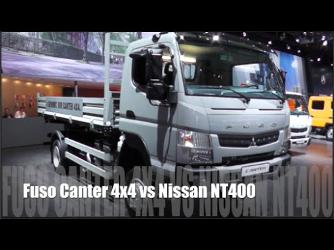 Fuso Canter 4x4 2015 vs Nissan NT400 2015