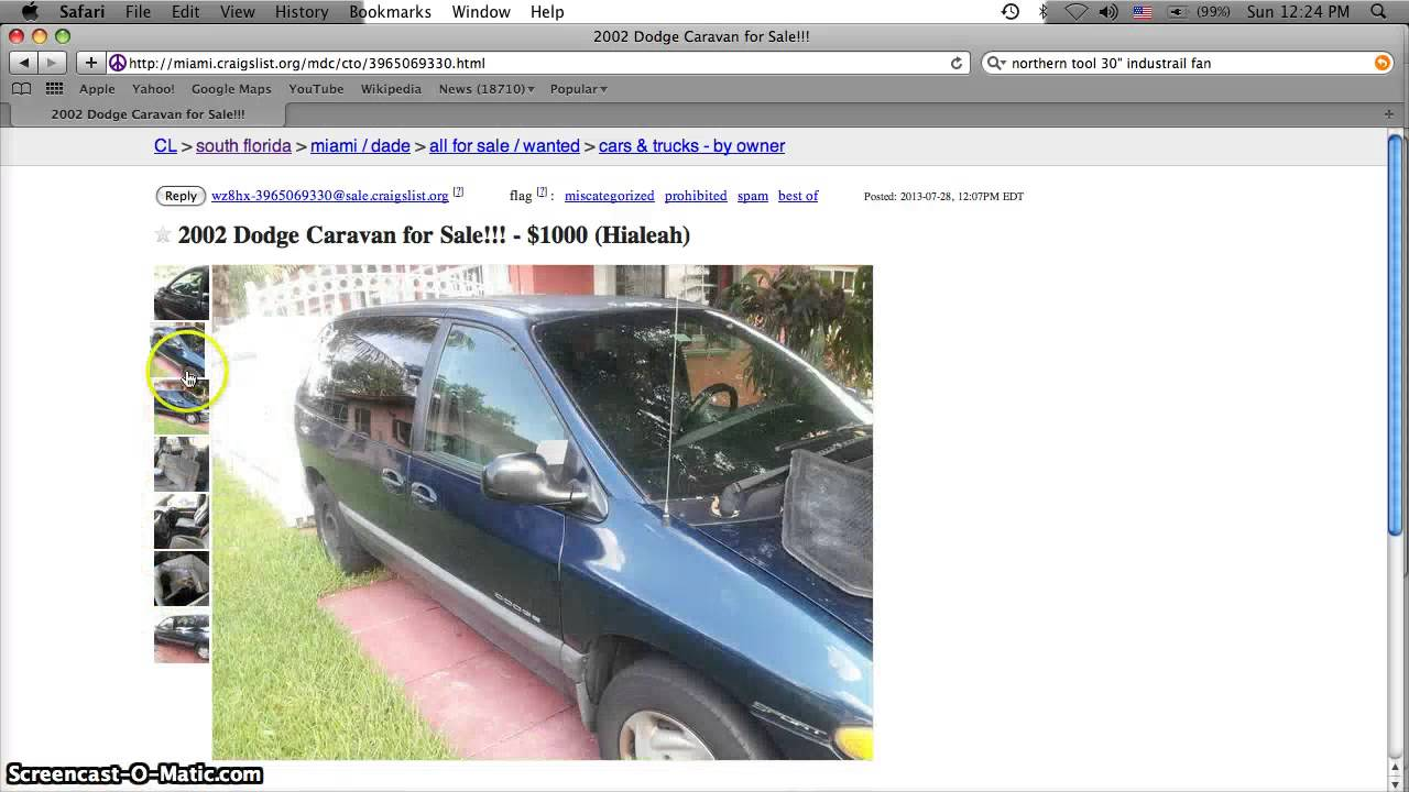 Craigslist Miami August 2013 Used Cars For Sale by Owner