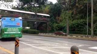 Volvo B5RH Volgren departing Yusof Ishak Secondary School