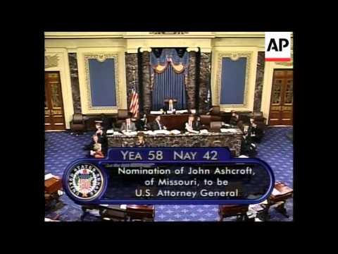 USA: JOHN ASHCROFT NEXT ATTORNEY GENERAL