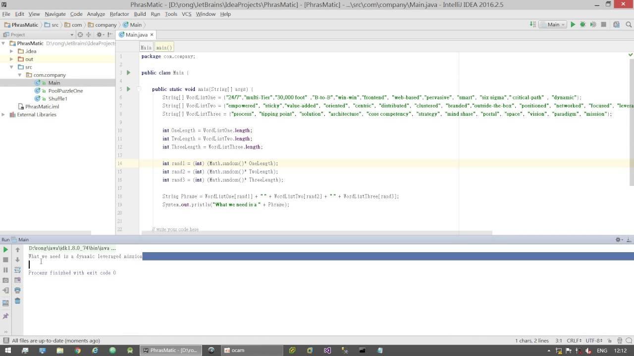 Java Basic Tutorial --- String Arrays and Generate Random Number Simple  Example