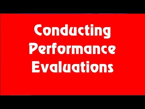 How To Conduct Employee Performance Evaluations (Performance