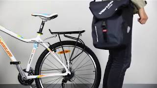 How to use VENZO 600D TPU Waterproof Bike Bicycle Rear Pannier Bag