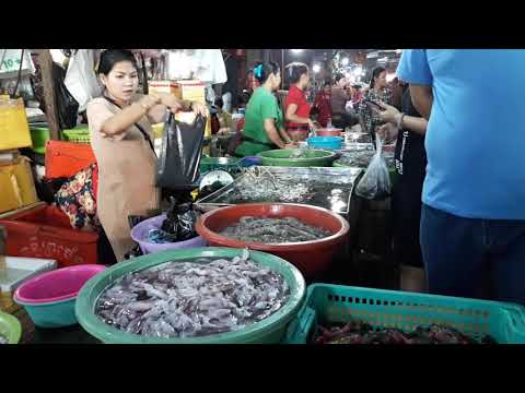 Buying Seafood | Sea Foods Market | Kampong Som City | Cambodia Tourism Place