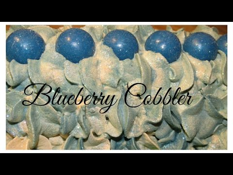 Homemade Cold Process Soap, Making Blueberry Cobbler