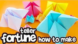 How to Make A Paper Fortune Teller-Fold Origami Chatterbox-DIY-Easy Origami Tutorials-Amazing Tricks