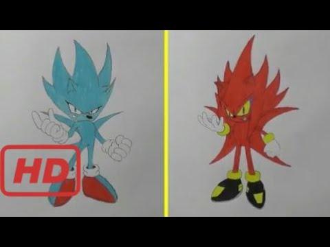 How to Draw Nazo vs Perfect Nazo  - Sonic The Hedgehog