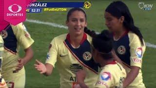 Gol de Diana González | Cruz Azul 1 - 2 América | Liga MX Femenil - J3 | Televisa Deportes
