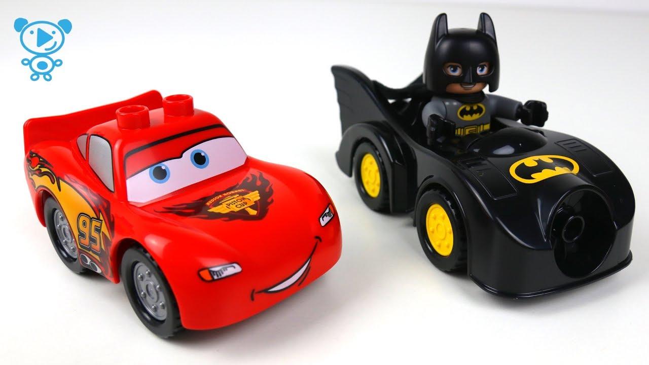 Cars 3 Mcqueen Lego Batman Vs Joker Lego Stop Motion Cartoon Lego