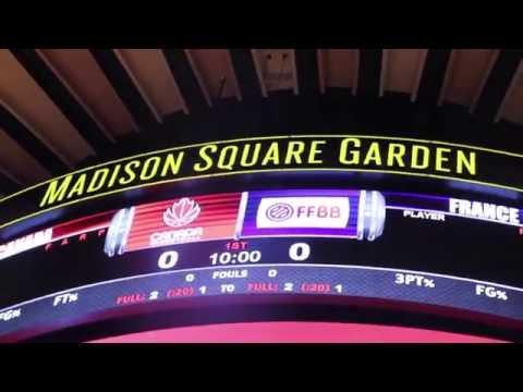 Marine Johannès et les Bleues au Madison Square Garden