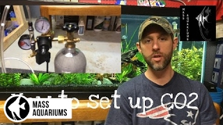 How to set up Pressurized CO2 in a planted tank. Setting up Pressurized C02 made easy