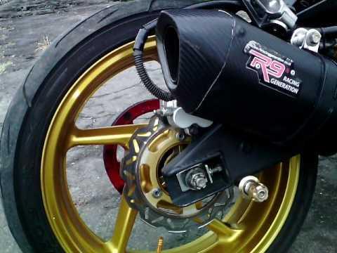 Modifikasi Kawasaki Ninja 250r Terbaru Balap Racing Modif Velg Rossi Body Stang Knalpot R9 Dll